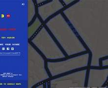Google Map se transforme en PAC MAN !